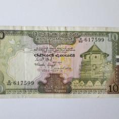 CEYLON/SRI LANKA 10 RUPEES 1982 - bancnota asia