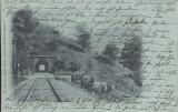 BUSTENI SALUTARI DIN ROMANIA  TUNELUL DE LA BUSTENI  CLASICA CIRC. 1900, Circulata, Printata
