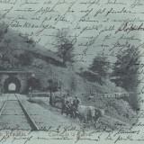 SALUTARI DIN ROMANIA, TUNELUL DE LA BUSTENI,STAMPILA AUG.1900
