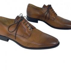 Pantofi eleganti piele naturala Denis-1288 cuoio 3 - Pantofi barbat, Marime: 39, 40, 41, 42, 43, 44, 45, Culoare: Coffee