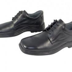 Pantofi casual barbati piele naturala Denis-631 n - Pantofi barbat, Marime: 40, 41, 42, 43, 44, 45, Culoare: Negru, Negru