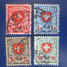 ELVETIA USED 1924-1940, Stampilat