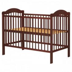 Patut din Lemn Lizett Venghe - Patut lemn pentru bebelusi, 120x60cm, Maro