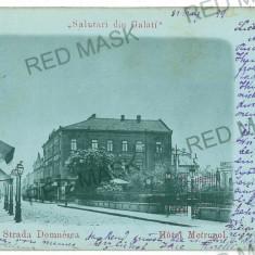 826 - Litho, GALATI, Hotel Metropol - old postcard - used - 1899 - Carte Postala Moldova pana la 1904, Circulata, Printata