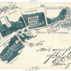 670 - Litho, ORAVITA - old postcard - used - 1899 - Carte Postala Banat pana la 1904, Circulata, Printata