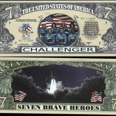 USA 7 Dollars Nava Spatiala Challenger UNC