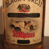 Whisky black forest, single malt whisky, 5 years, cl 70 gr 43