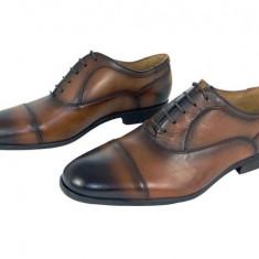 Pantofi eleganti barbati piele naturala Denis-2597 cuoio - Pantofi barbat, Marime: 40, 41, 42, 43, 44, 45, Culoare: Din imagine, Negru