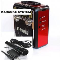 KARAOKE MP3 PLAYER. STICK USB, CARD, ACUMULATOR, RADIO FM, SUNET HI FI, MICROFON.NOU. - Combina audio, Mini-sistem, 0-40 W