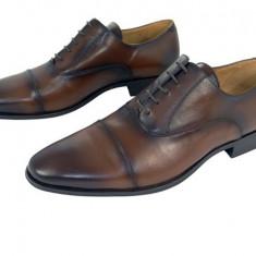 Pantofi eleganti barbati piele naturala Denis-1289 m - Pantofi barbat, Marime: 39, 40, 41, 42, 43, 44, 45, Culoare: Maro, Negru