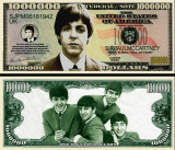 USA 1 Million Dollars Beatles Paul McCartney UNC