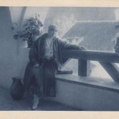 REGALITATE ROMANA, REGINA MARIA PE TERASA LA CASTELUL BRAN - Carte Postala Muntenia 1904-1918, Necirculata, Printata
