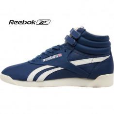 Adidasi originali Reebok Womens Freestyle Hi Vintage Inspired Blue - Adidasi dama Reebok, Culoare: Din imagine, Marime: 38