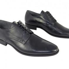 Pantofi eleganti piele naturala Denis 1288 n - Pantofi barbat, Marime: 39, 40, 41, 42, 43, 44, 45, Culoare: Negru, Negru