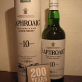 Whisky laphroaig 10 years, islay single malt scotch whisky, cl 70 gr 40 -200yeas