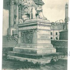 703 - IASI, Asachi statue - old postcard - used - 1902 - Carte Postala Moldova pana la 1904, Circulata, Printata