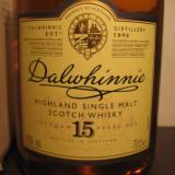 Whisky dalwhinnie, highland single malt scotch whisky, 15 years, cl 70 gr 43