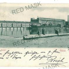 844 - Litho, GALATI, Docurile - old postcard - used - 1902 - Carte Postala Moldova pana la 1904, Circulata, Printata