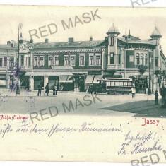 761 - Litho, IASI, Unirii Market - old postcard - used - 1902 - Carte Postala Moldova pana la 1904, Circulata, Printata