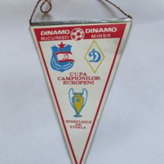 FANION DINAMO BUCURESTI-DINAMO MINSK SFERTURILE DE FINALA C.C.E. 21 MARTIE 1984 - Fanion fotbal