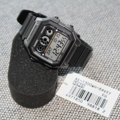 Ceas CASIO AE-Digital RETRO Original 100% NOU - Ceas barbatesc Casio, Sport, Quartz, Cauciuc, Fusuri orare multiple, Electronic