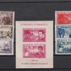 ROMANIA 1945, LP 168, LP 169, APARAREA PATRIOTICA, MNH, LOT 1 RO - Timbre Romania, Nestampilat