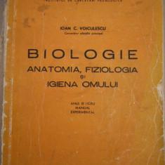 CC43 - BIOLOGIE - ANATOMIE FIZIOLOGIE SI IGIENA OMULUI - IOAN VOICULESCU - 1971 - Curs Medicina