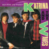 Katrina and The Waves - Red Wine and Whisky (1985, Capitol) Disc vinil single 7