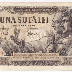 Bancnota 100 lei 5 decembrie 1947 (1) - Bancnota romaneasca