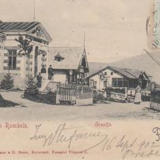 SALUTARI DIN ROMANIA PREDEAL GRANITA TCV CLASICA CIRCULATA SEP. 1902 - Carte Postala Transilvania pana la 1904, Printata