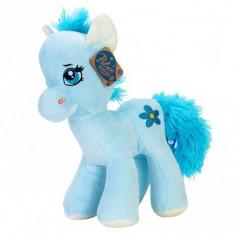 Jucarie De Plus Calut Unicorn Ponei Albastru 31Cm - Jucarii plus