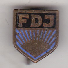 Bnk ins Insigna Germania RDG - FDJ - Free German Youth - tineretul comunist