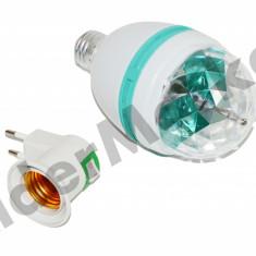 Bec LED 3W E27 cu lumini disco auto rotativ pentru petreceri