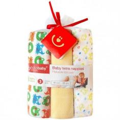Scutece Textile Pentru Bebelusi 3 Buc - Bobobaby - Galben - Scutece unica folosinta copii
