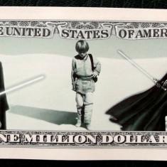 SUA 2013 Anakin Skywalker Darth Vader Star Wars One Million Dollar UNC ** - bancnota america