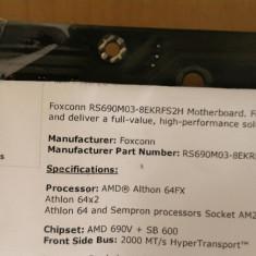 Placa de baza PC Foxconn R5690M03-8EKRFS2H Socket AM2 DDR2, Pentru AMD