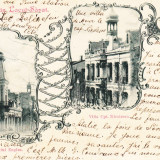 SALUTARI DIN LACUL-SARAT  RESTAURANTUL ENGLEZ  VILLA CPT.  NICOLESCU  CIRC.1900