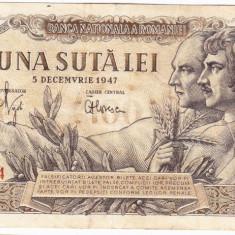 Bancnota 100 lei 5 decembrie 1947 (3) - Bancnota romaneasca