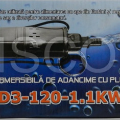 Pompa apa submersibila QGD cu plutitor Micul Fermier 1.1kw 120m 1 tol 1
