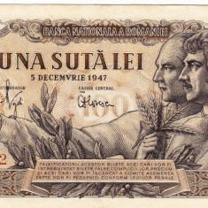 Bancnota 100 lei 5 decembrie 1947 XF/a.UNC (2) - Bancnota romaneasca