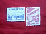 Serie Danemarca 1987 Europa CEPT -Arhitectura , 2 val.