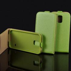 Husa Samsung Galaxy Trend Lite S7390 S7392 Flip Case Inchidere Magnetica Verde - Husa Telefon Samsung, Piele Ecologica, Cu clapeta, Toc
