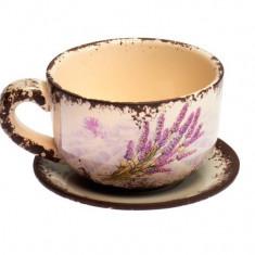 Ghiveci ceramica cu farfurioara Lavender