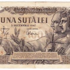 Bancnota 100 lei 5 decembrie 1947 (4) - Bancnota romaneasca