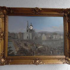 Ceas tablou deosebit anul 1800 inceput - Ceas de perete