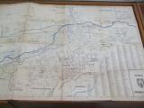 Cluj plan oras D. S. A. P. C. Marian Zoe 68 x 98 cm dimensiuni