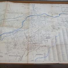 Cluj plan oras D. S. A. P. C. Marian Zoe 68 x 98 cm dimensiuni - Harta Romaniei
