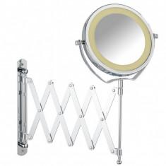 Oglinda cosmetica de perete cu LED