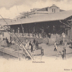 GALATI GALATZ DEBARCADERU CLASICA EDITURA G. D. NEBUNELI & FII - Carte Postala Moldova pana la 1904, Necirculata, Printata