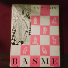 A. S. Puskin Basme, ed. cartonata, supracoperta, ilustr. Th. Kiriakof-Suruceanu - Carte Basme